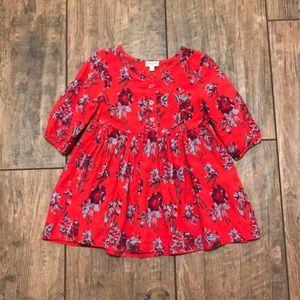 Splendid Red Flower dress 12-18 month